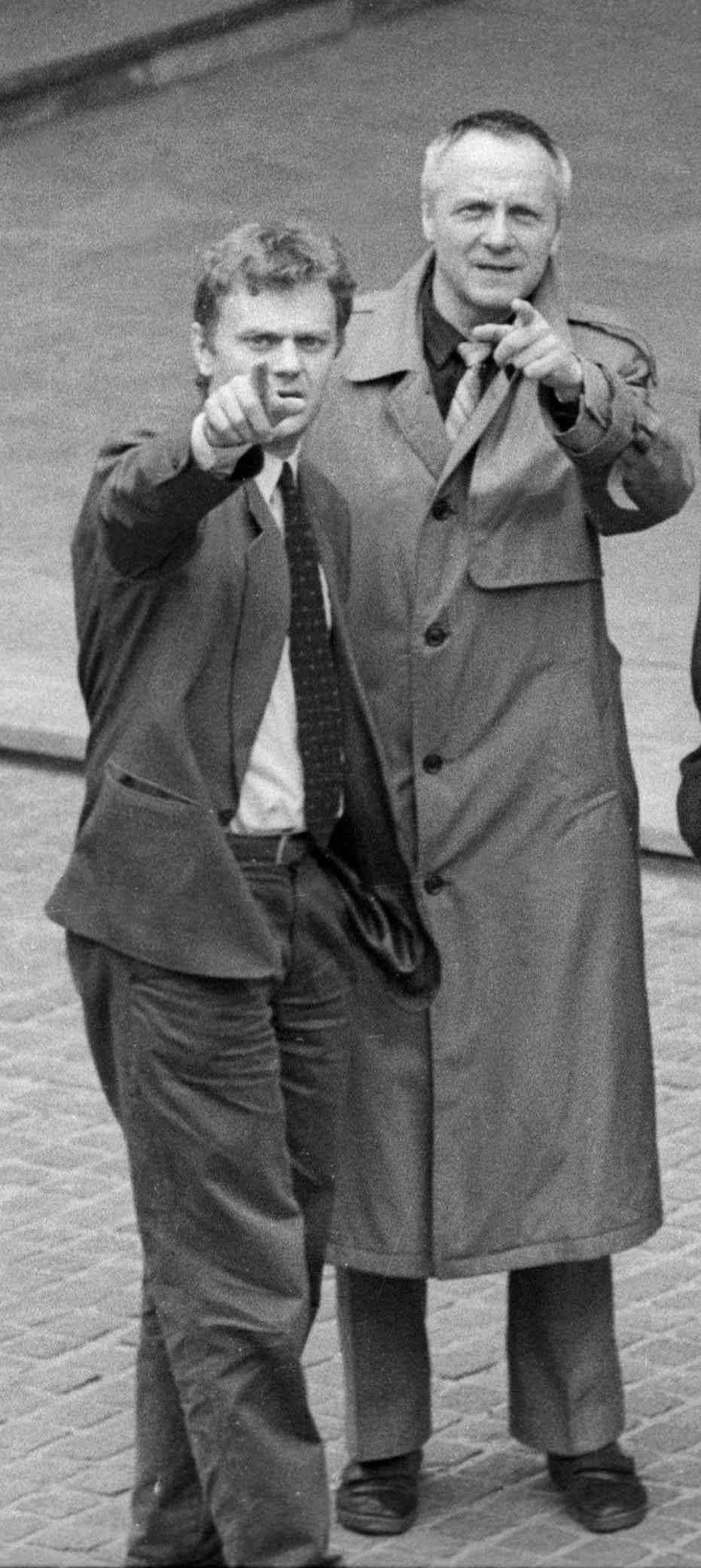 Donald Tusk i Stefan Niesiołowski