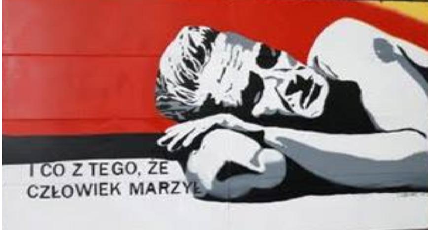 mural Marka Hłaski